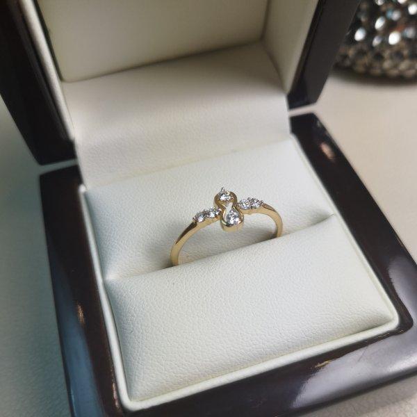 """Inel """"Crux"""" Aur 18k cu Diamante Naturale"""