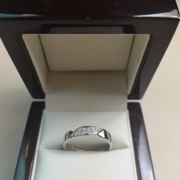 Inel Verigheta aur 18k cu Diamante Naturale