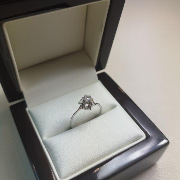 Inel Solitaire Aur 18k cu Diamante Naturale