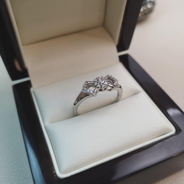 Inel Fundita Aur 18k cu Diamante Naturale
